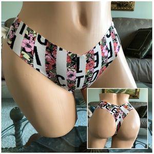 Victoria's Secret Logo No Show Thong Panties